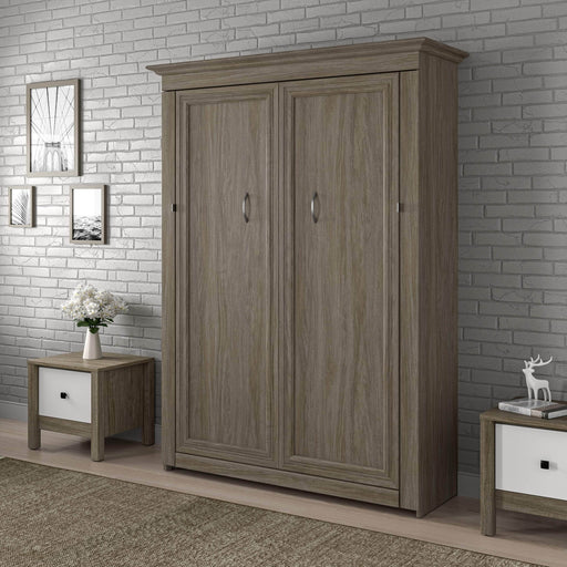 Pending - Bestar Murphy Beds Versatile 59W Full Murphy Bed In Walnut Grey