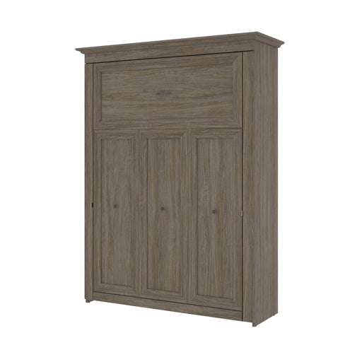 Pending - Bestar Murphy Beds Versatile 70W Queen Murphy Bed In Walnut Grey