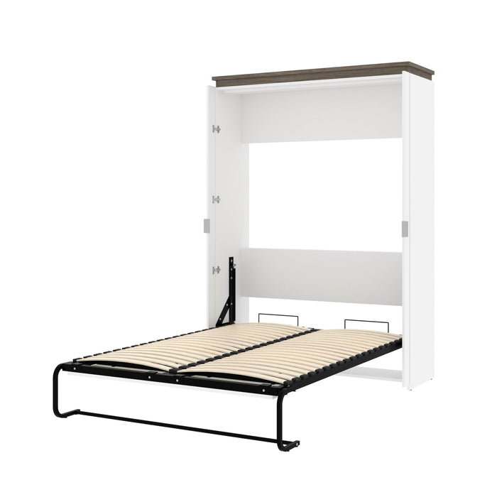 Pending - Bestar Murphy Beds White & Walnut Grey Orion 57W Full Murphy Bed - Available in 2 Colors