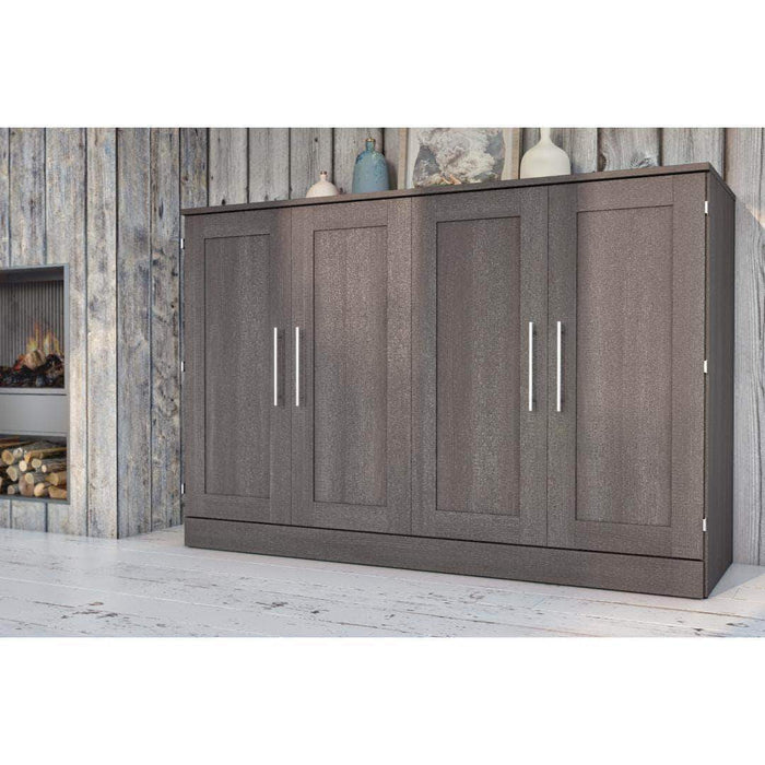 Pending - Bestar Murphy Cabinet Bed Bark Grey Pur Murphy Cabinet Bed - Available in 3 Colours