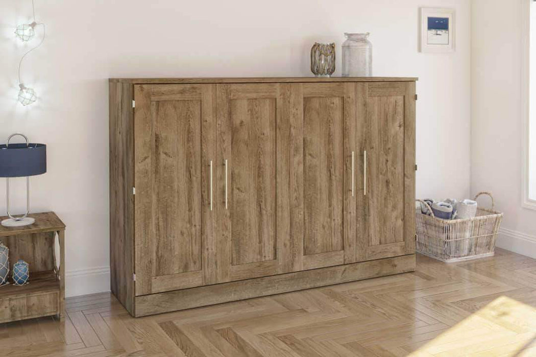 Pending - Bestar Murphy Cabinet Bed Rustic Brown Pur Murphy Cabinet Bed - Available in 3 Colours