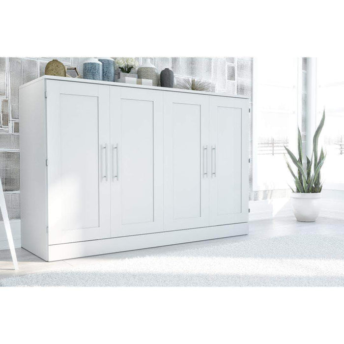 Pending - Bestar Murphy Cabinet Bed White Pur Murphy Cabinet Bed - Available in 3 Colors