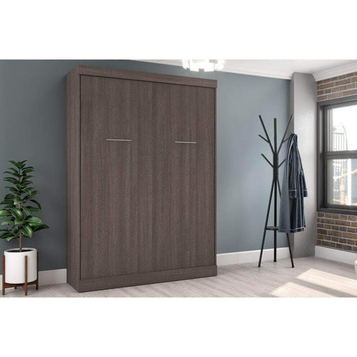Pending - Bestar Murphy Wall Bed Bark Grey Nebula Queen Size Wall Bed available in 4 Colours