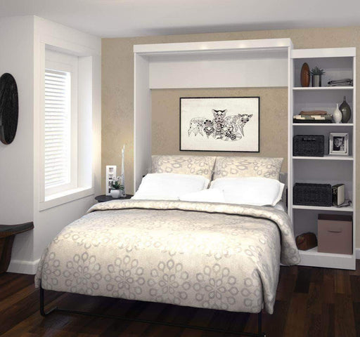 "Pending - Bestar Murphy Wall Bed Pur 90"" Queen Size Wall Bed with Storage Unit - Available in 3 Colors"