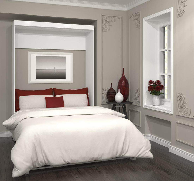 Pending - Bestar Murphy Wall Bed Pur Queen Size Wall Bed available in 3 Colors