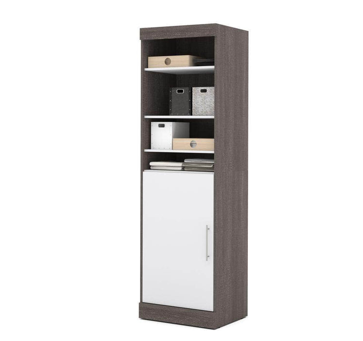 "Pending - Bestar Nebula 25"" Storage Unit in Bark Grey and White"