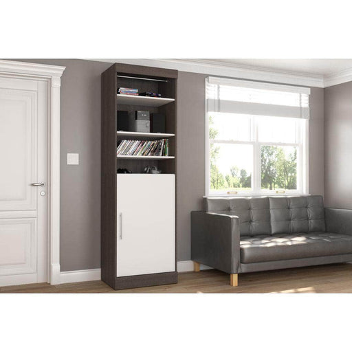 "Nebula 25"" Storage Unit in Bark Grey and White"