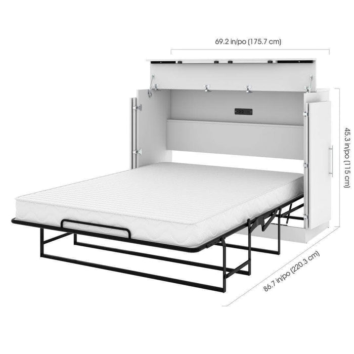 Pending - Bestar Nebula Full Murphy Cabinet Bed with Mattress - Available in 2 Colors