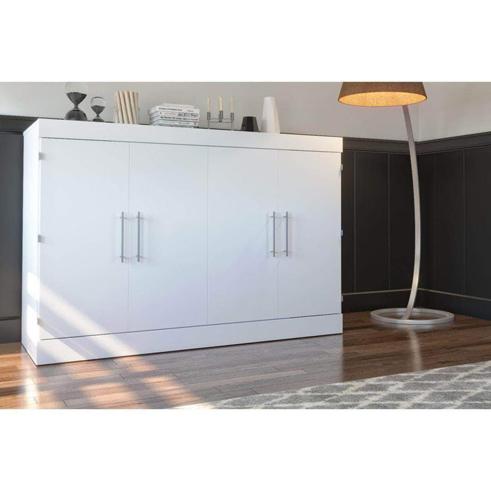 Pending - Bestar Nebula Queen Murphy Cabinet Bed with Mattress - Available in 2 Colors