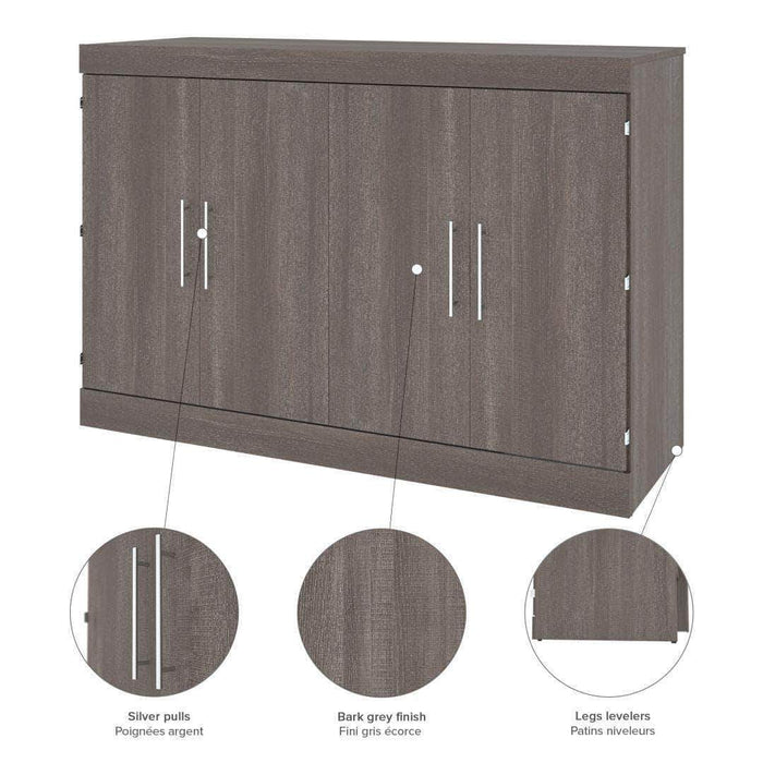 Pending - Bestar Nebula Queen Murphy Cabinet Bed with Mattress - Available in 2 Colours