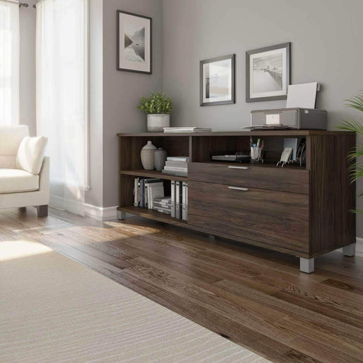 Pending - Bestar Oak Barrel Credenza with 2 Drawers - Available in 5 Colors