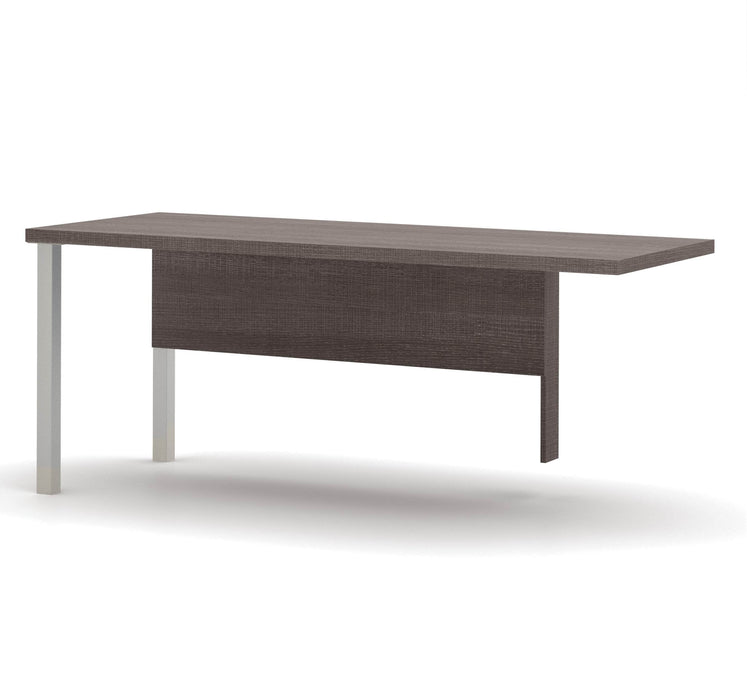 Pending - Bestar Office Accessories Bark Grey Pro-Linea Return Table - Available in 2 Colors