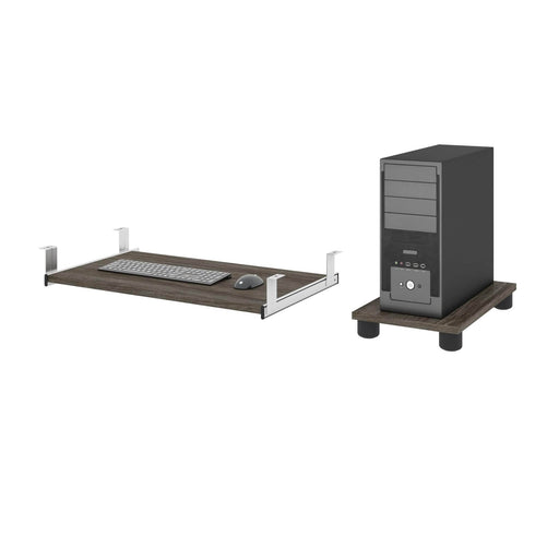 Pending - Bestar Office Accessories Embassy Keyboard Tray and CPU Stand - Available in 2 Colors