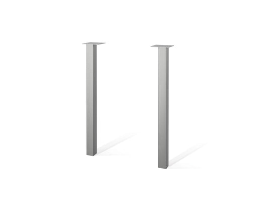 Pending - Bestar Office Accessories Silver Contempo Set of 2 Metal Legs - Silver