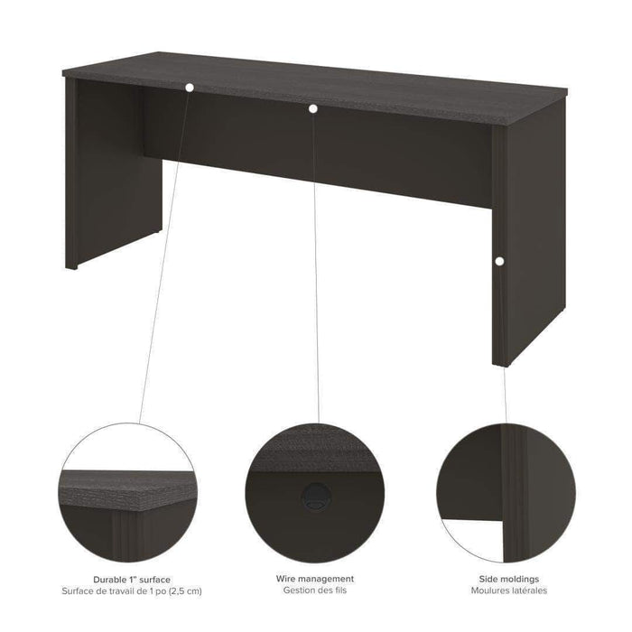 Pending - Bestar Prestige+ Narrow Desk Shell - Available in 5 Colors