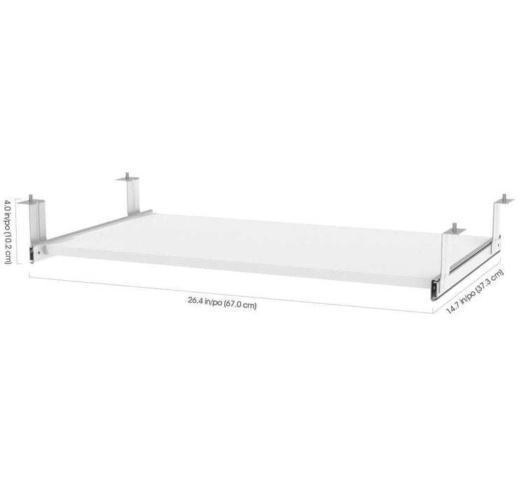 Pending - Bestar Pro Concept Plus Keyboard Shelf in White