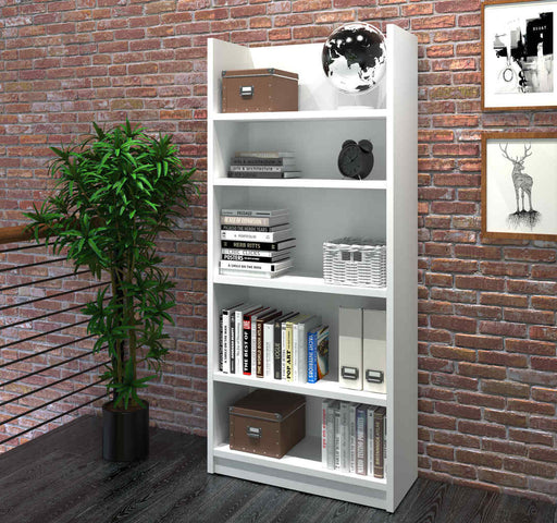 Pro-Linea Standard 5 Shelf Bookcase in White