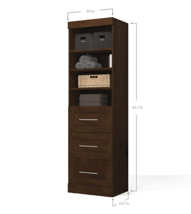 "Pending - Bestar Pur 25"" Storage Unit with 3 Drawers - Available in 3 Colors"