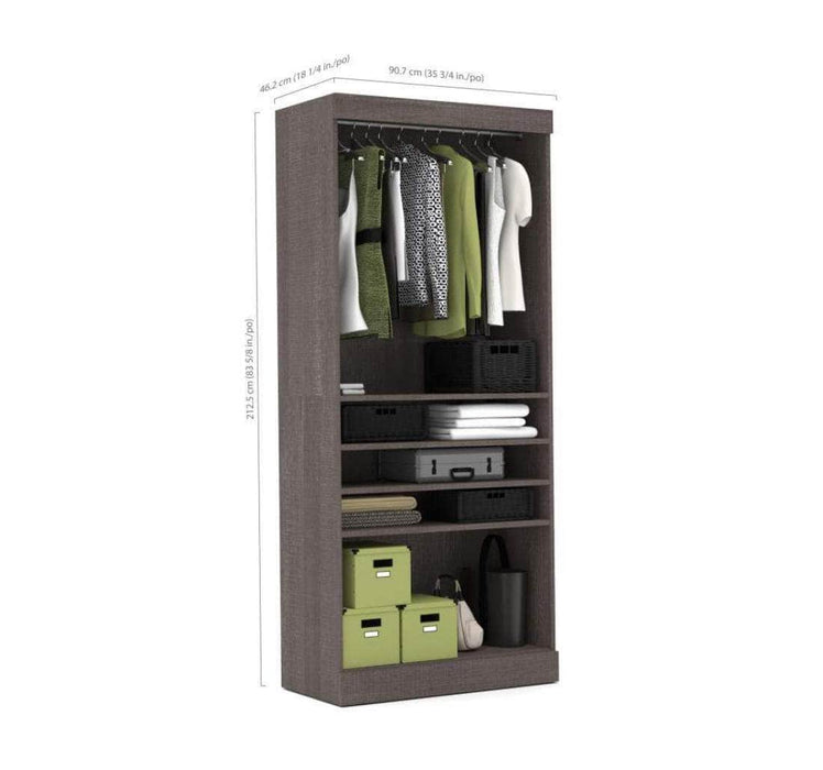 "Pending - Bestar Pur 36"" Storage Unit in Bark Gray"