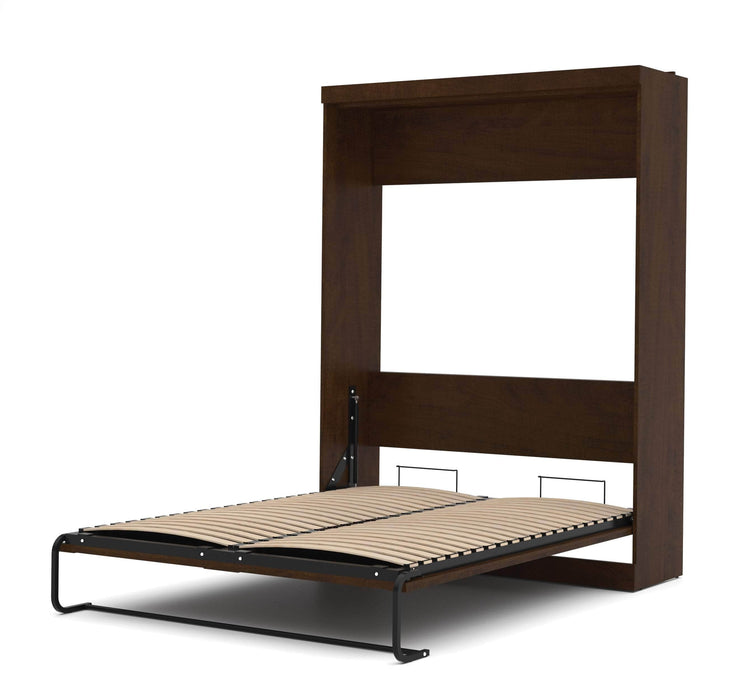 Pending - Bestar Queen Murphy Bed Chocolate Pur Queen Murphy Bed and 2 Storage Units (115W) - Available in 3 Colours