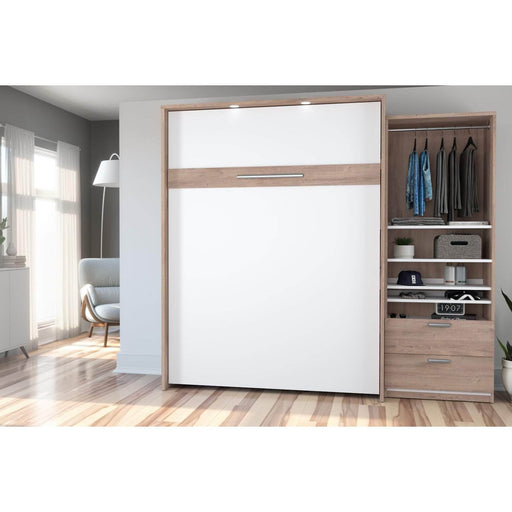 Pending - Bestar Queen Murphy Bed Cielo Queen Murphy Bed and Storage Cabinet (95W) - Available in 2 Colors
