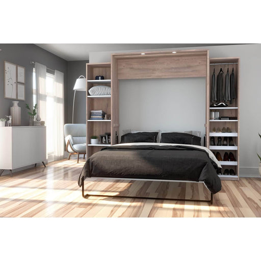Pending - Bestar Queen Murphy Bed Cielo Queen Murphy Bed with 2 Storage Cabinets (104W) - Available in 2 Colors