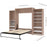 Pending - Bestar Queen Murphy Bed Cielo Queen Murphy Bed with 2 Storage Cabinets (124W) - Available in 2 Colors