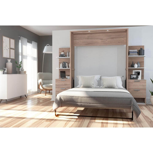 Pending - Bestar Queen Murphy Bed Cielo Queen Murphy Bed with Storage (104W) - Available in 2 Colours