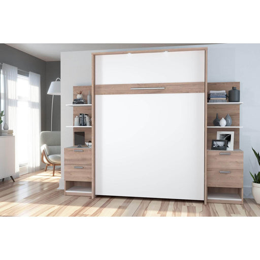Pending - Bestar Queen Murphy Bed Cielo Queen Murphy Bed with Storage (104W) - Available in 2 Colors