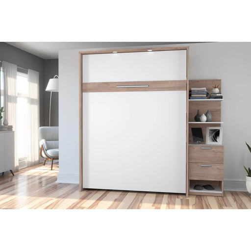 Pending - Bestar Queen Murphy Bed Cielo Queen Murphy Bed with Storage Cabinet (85W) - Available in 2 Colors