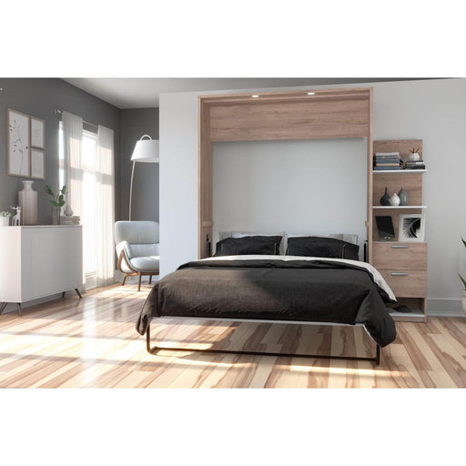 Pending - Bestar Queen Murphy Bed Cielo Queen Murphy Bed with Storage Cabinet (85W) - Available in 2 Colours