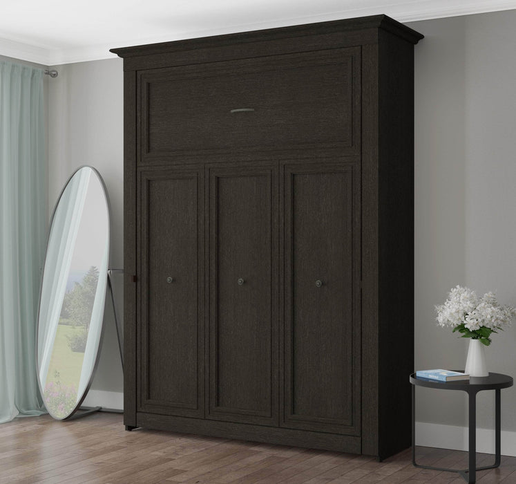 Pending - Bestar Queen Murphy Bed Deep Grey Audrea 70W Queen Murphy Bed - Deep Grey