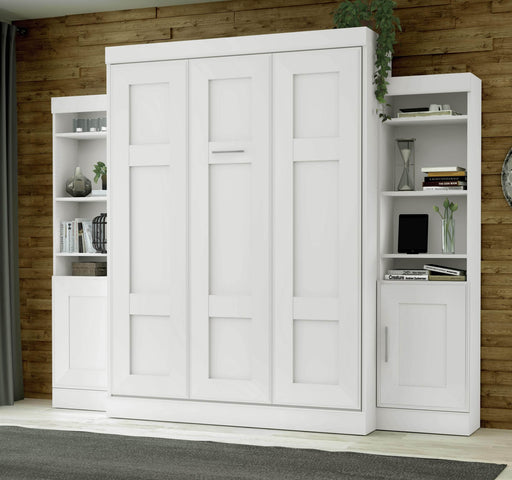 Pending - Bestar Queen Murphy Bed Edge Queen Murphy Bed with 2 Storage Units (107W) - Available in 2 Colors