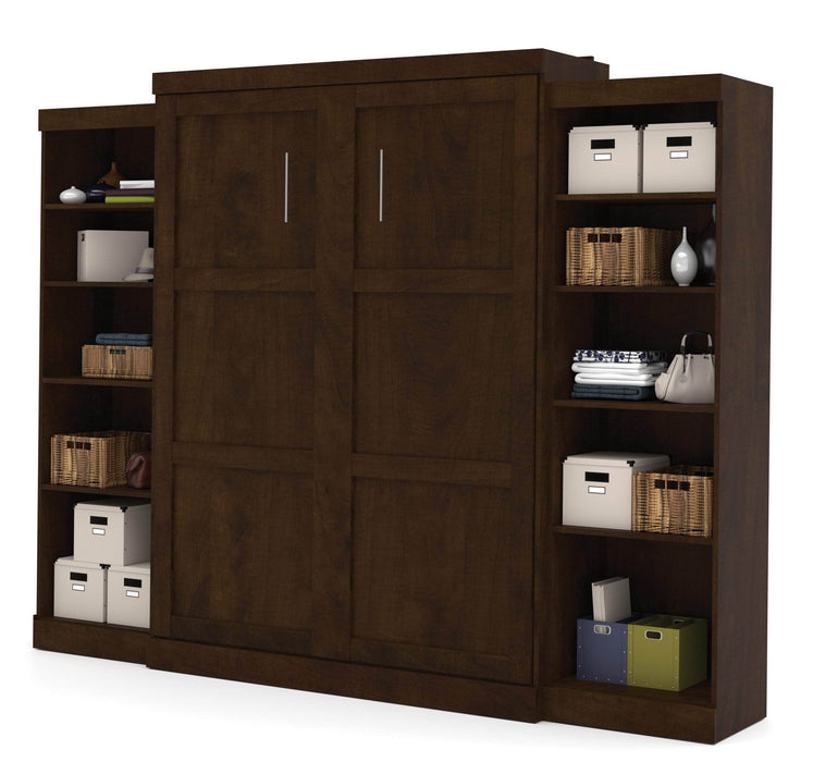 Pending - Bestar Queen Murphy Bed Pur Queen Murphy Bed and 2 Storage Units (115W) - Available in 3 Colors