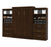 "Pending - Bestar Queen Murphy Bed Pur Queen Murphy Bed and 2 Storage Units with Drawers (136"") - Available in 2 Colors"