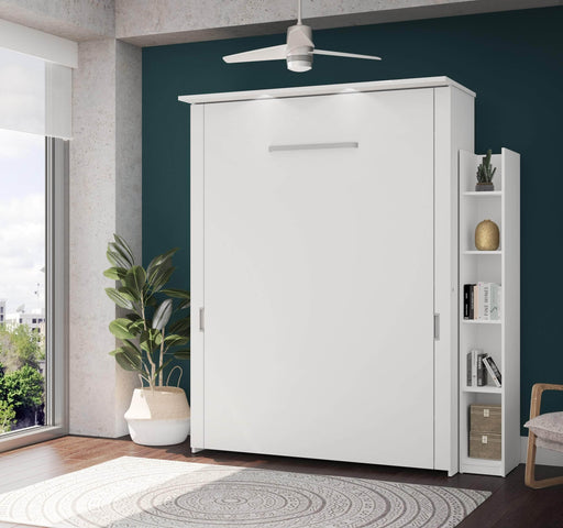 "Pending - Bestar Queen Murphy Bed White Lumina Queen Murphy Bed and 1 Storage Unit (75"") - White"
