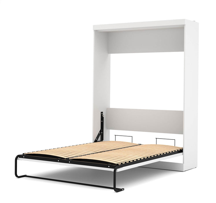 "Pending - Bestar Queen Murphy Bed White Pur Queen Murphy Bed and 2 Storage Units with Drawers (136"") - Available in 2 Colours"