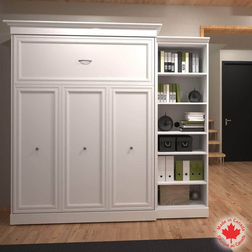 "Pending - Bestar Queen Murphy Bed White Versatile Queen Murphy Bed and 1 Storage Unit (92"") - White"