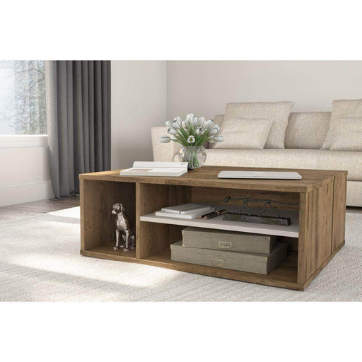 Pending - Bestar Rustic Brown & Sandstone Fom Coffee Table - Available in 2 Colours