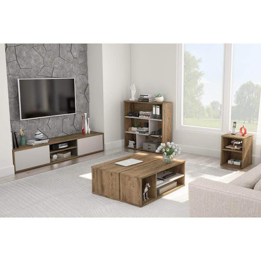 Pending - Bestar Rustic Brown & Sandstone Fom Living Room Storage Set - Available in 2 Colours