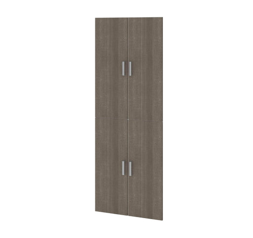 "Pending - Bestar Shelves Drawers and Doors Bark Grey Cielo 4-Door Set for 29.5"" Closet organizer - Bark Grey"