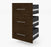 Pending - Bestar Shelves Drawers and Doors Chocolate Pur 3 Drawer Set for Pur 25W Storage Unit - Available in 3 Colours