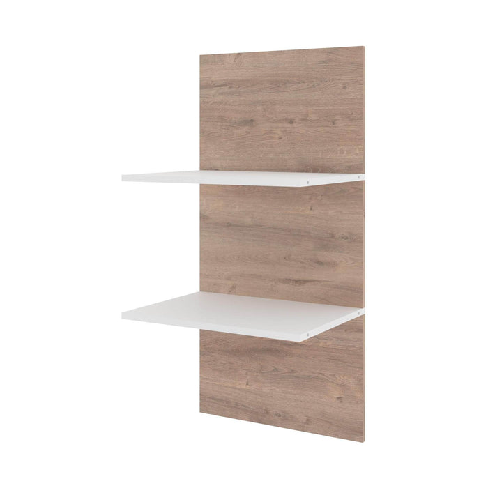 "Pending - Bestar Shelves Drawers and Doors Cielo 19.5"" Floating Shelves - Available in 2 Colours"