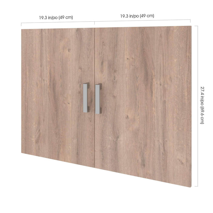"Pending - Bestar Shelves Drawers and Doors Cielo 2-Door set for 19.5"" Low Storage Unit - Available in 2 Colors"