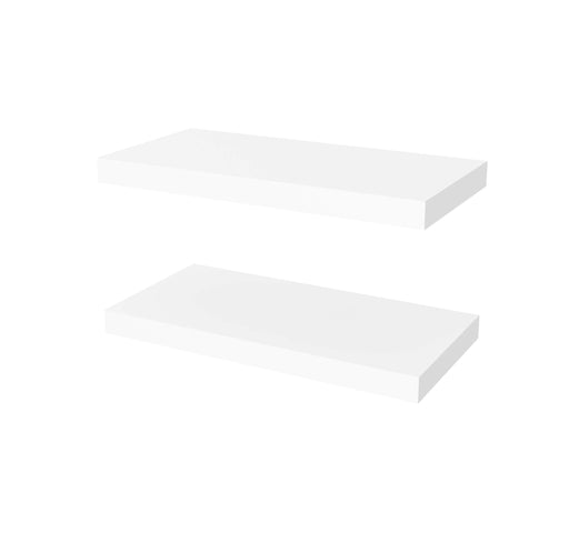 "Pending - Bestar Shelves Drawers and Doors Universel 2-Piece set including 12"" x 24"" High Quality Floating Shelves - Available in 3 Colours"