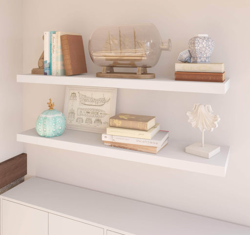 "Pending - Bestar Shelves Drawers and Doors Universel 2-Piece set including 12"" x 48"" High Quality Floating Shelves - Available in 3 Colors"