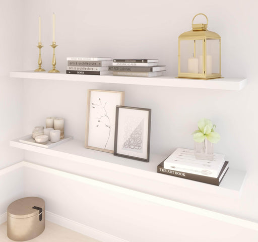 "Pending - Bestar Shelves Drawers and Doors Universel 2-Piece Set Including 12"" x 72"" High Quality Floating Shelves - Available in 3 Colours"