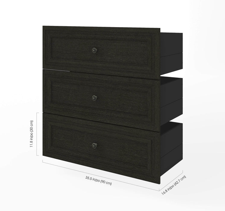 "Pending - Bestar Shelves Drawers and Doors Versatile 3-Drawer Set for Versatile 36"" Storage Unit - Available in 2 Colours"