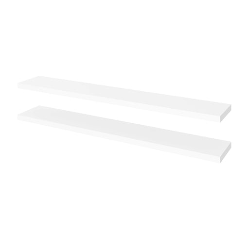 "Pending - Bestar Shelves Drawers and Doors White Universel 2-Piece Set Including 12"" x 72"" High Quality Floating Shelves - Available in 3 Colours"