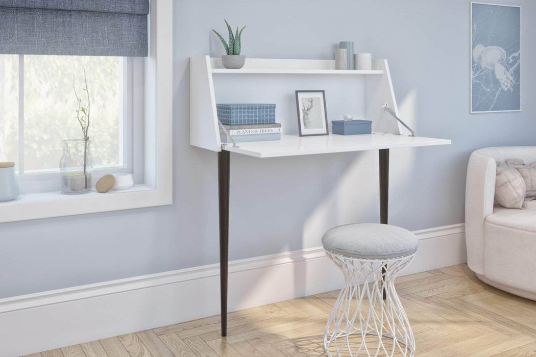 Pending - Bestar Small Desk Skat Secretary Desk - Available in 3 Colors